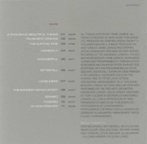 Annie Lennox - Bare 2003