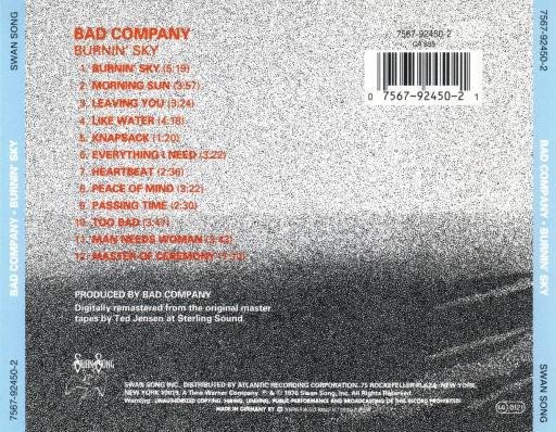 Bad Company - Burnin' Sky (1977)
