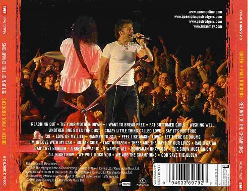 Queen + Paul Rodgers - Return Of The Champions (2005)
