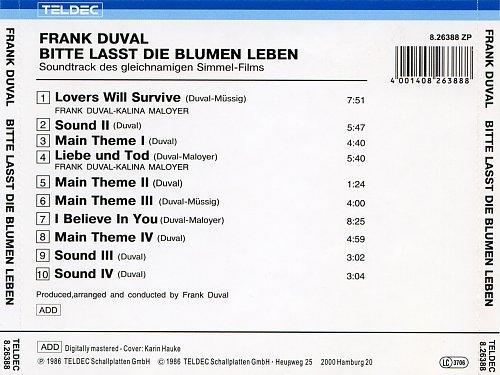 Frank Duval - Bitte Lasst Die Blumen Leben (1986)