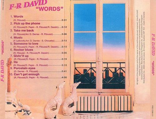 F.R. DAVID - WORDS 1982