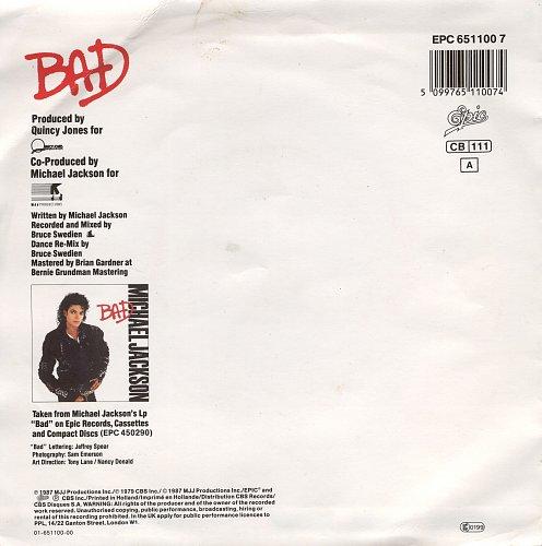Michael Jackson - Bad (1987) [single]