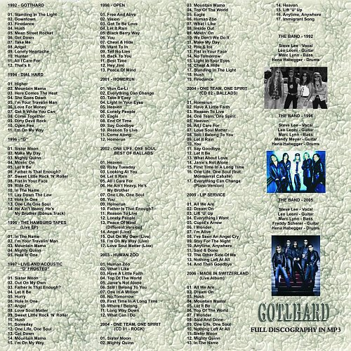 Gotthard - Full Discography In MP3