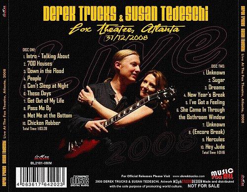 Derek Trucks  Susan Tedeschi - Live 2008 (Atlanta 31.12.2008)