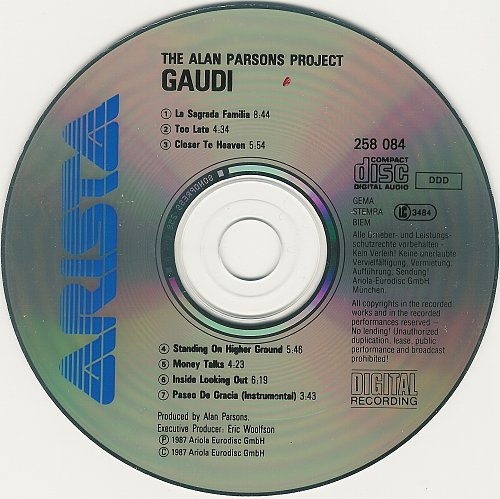 Alan Parsons Project - Gaudi (1987)