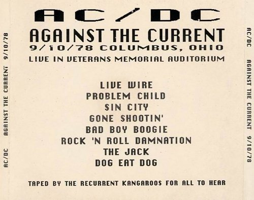 ACDC - Against The Current (Live Columbus 9.10.1978) 1978