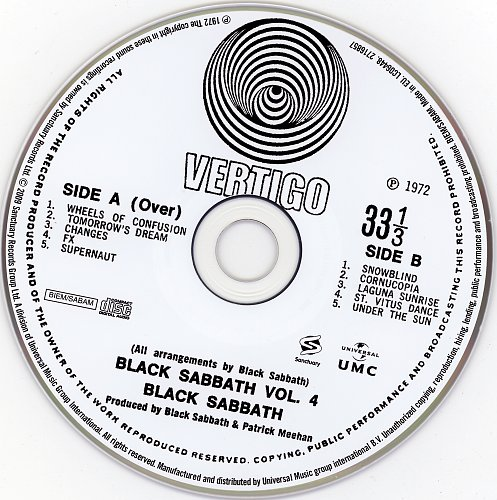 Black Sabbath - Vol.04 (1972)