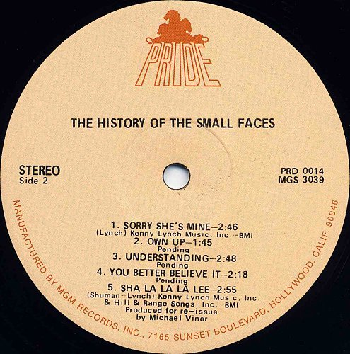 Small Faces - The History Of The Small Faces