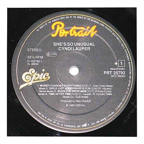 Cyndi Lauper - She's So Unusual  1983