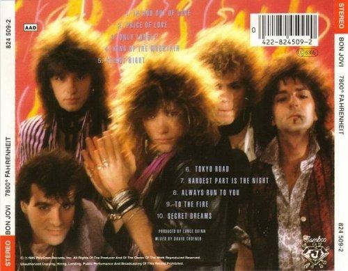 BON JOVI - 7800 Fahrenheit-1985