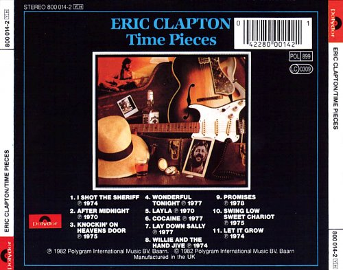 ERIC CLAPTON - Time Pieces Vol.1  1982