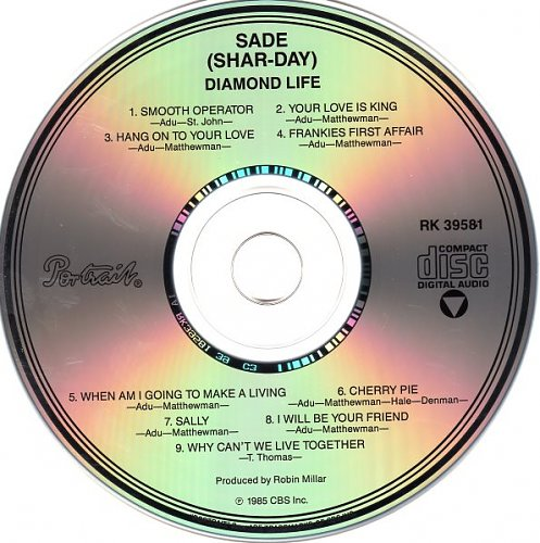 SADE - Diamond Life 1984