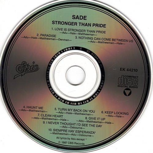 SADE - Stronger Than Pride 1988
