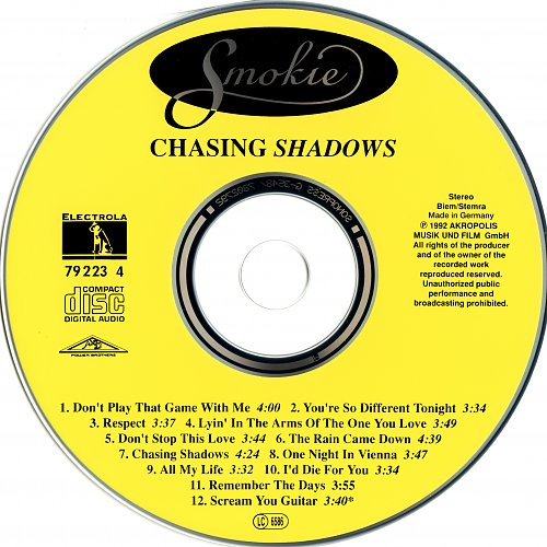 SMOKIE - Chasing shadows  1992