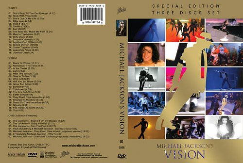 Michael Jackson's Vision [DVD cover]