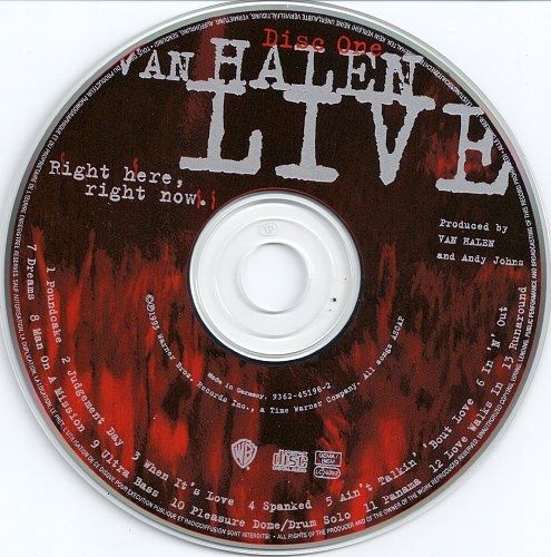 VAN HALEN -  Live Right Here, Right Now  1993