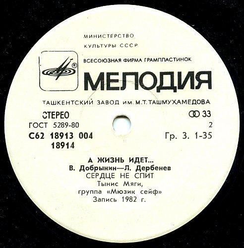 Добрынин Вячеслав - Дербенев Леонид - С62 18913-14 004 - А жизнь идет...