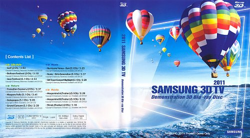 Собрание демо дисков 3D Blu-ray Samsung