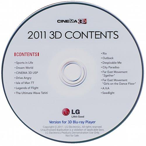 Собрание демо дисков 3D Blu-ray LG