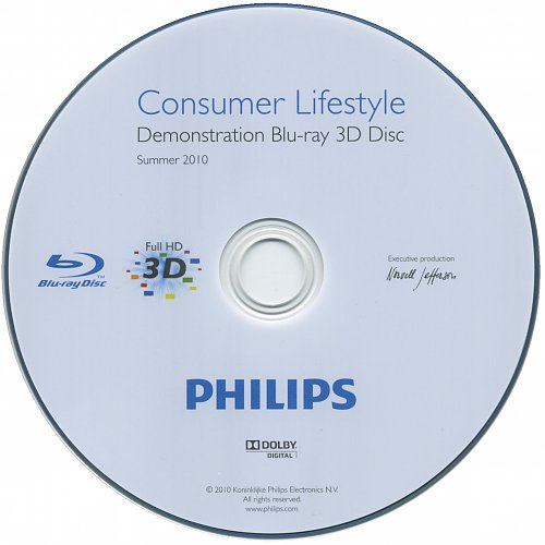 Собрание демо дисков 3D Blu-ray Philips