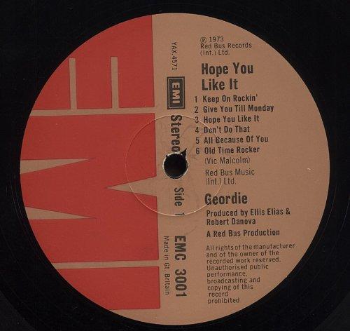 Geordie - Hope You Like It (1973)