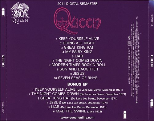 Queen - Queen [Japan SHM-CD, UICY-75011-2, 2011] (1973)