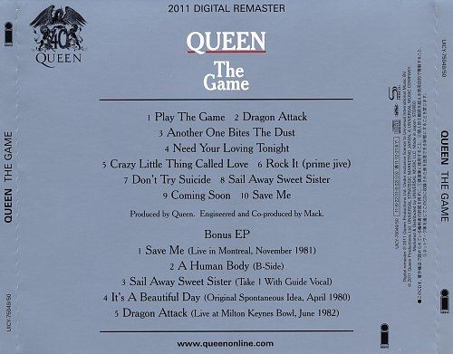 Queen - The Game [Japan SHM-CD, UICY-75049-50, 2011] (1980)