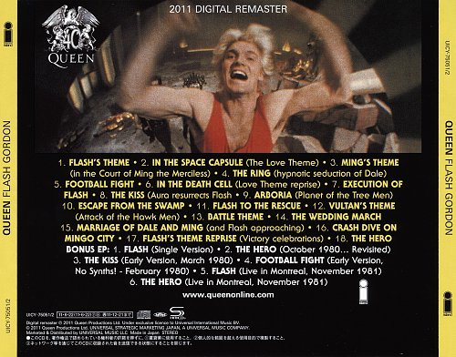 Queen - Flash Gordon [Japan SHM-CD, UICY-75051-2, 2011] (1980)
