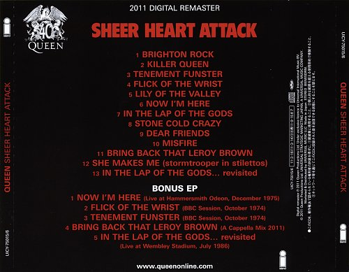 Queen - Sheer Heart Attack [Japan SHM-CD, UICY-75015-6, 2011] (1974)
