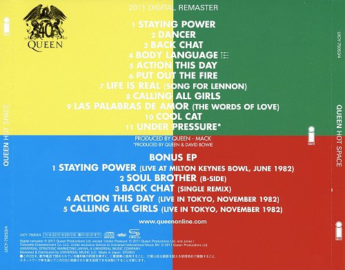 Queen - Hot Space [Japan SHM-CD, UICY-75053-4, 2011] (1982)
