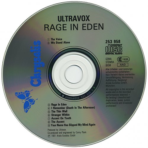 Ultravox . 1981 . Rage In Eden