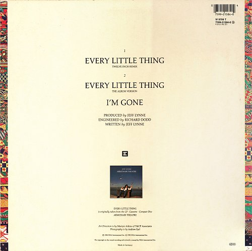 Jeff Lynne - Every Little Thing (12'' 45rpm Maxi-Single, Reprise, Germany) [1990]