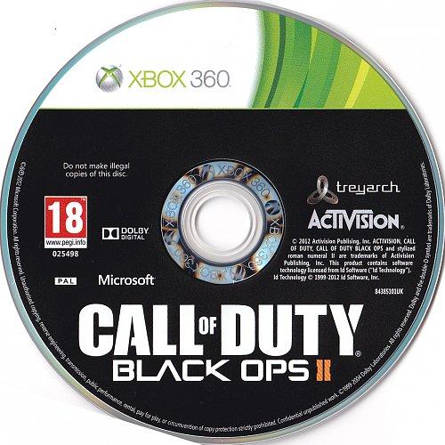 Call Of Duty Black Ops II Xbox 360 Cover PAL, Disc PAL