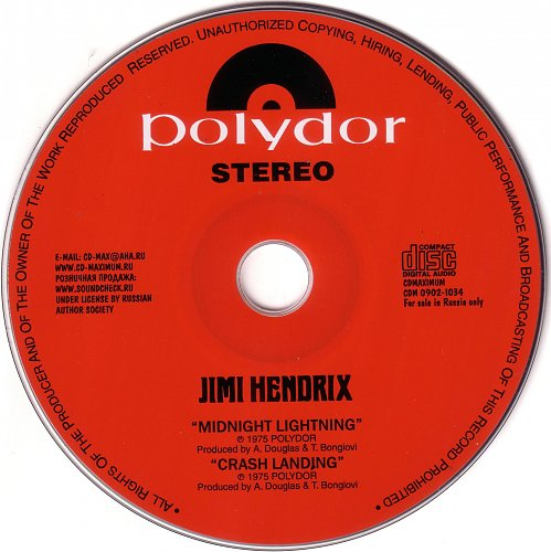 Jimi Hendrix - Midnight Lightning + Crash Landing 1975