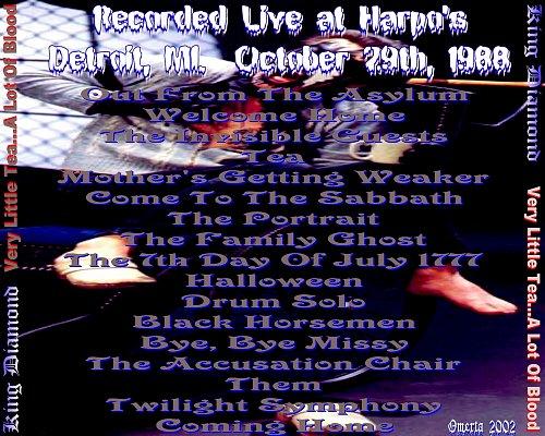 King Diamond - Very Little Tea... A Lot Of Blood (Live Detroit 29.10.1988)