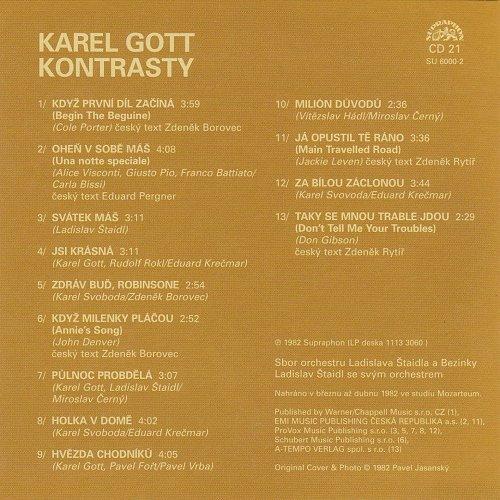 Karel Gott - Me Pisne CD21 - Kontrasty (2009)