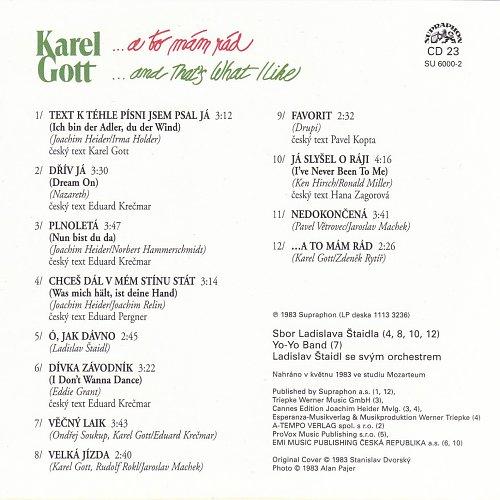 Karel Gott - Me Pisne CD23 - ... A To Mam Rad (2009)