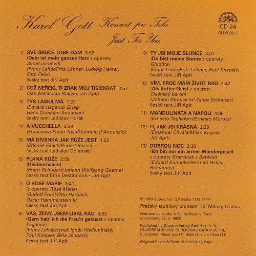 Karel Gott - Me Pisne CD24 - Koncert Pro Tebe (2009)
