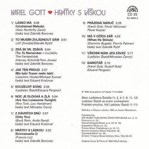 Karel Gott - Me Pisne CD25 - Hratky S Laskou (2009)