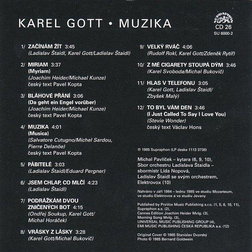Karel Gott - Me Pisne CD26 - Muzika (2009)