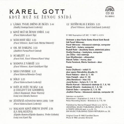 Karel Gott - Me Pisne CD33 - Kdyz Muz Se Zenou Snida (2009)