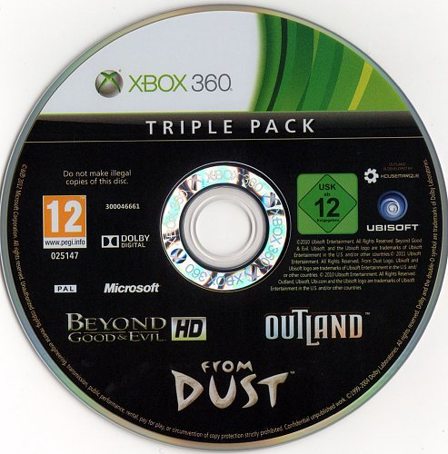 Outland + From Dust + Beyond Good & Evil HD