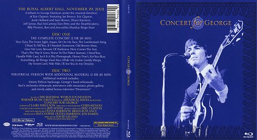 V.A. - Concert For George 29.11.2002 - A Tribute To George Harrison (2010, 2011) 2BD
