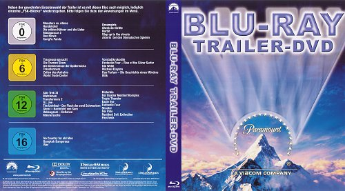 Paramount Blu ray Trailer DVD