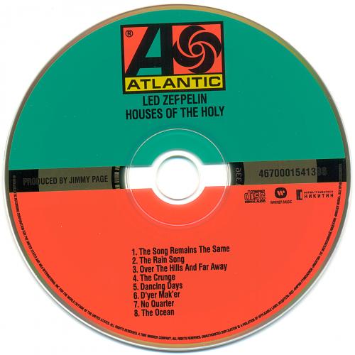 Led Zeppelin - Houses of the Holy 1973 [Japanese 2008 SHM-CD Edition]