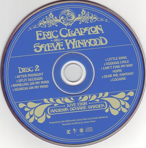 Eric Clapton & Steve Winwood - Live From Madison Square Garden (2009)