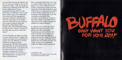 Buffalo - Only Want You For Your Body (Limited Edition) 2005