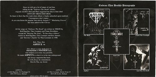 Asphyx - Embrace The Death (1996) [1996, Century Media, 77141-2, Germany]