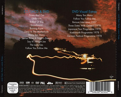 Genesis - ...And Then There Were Three... (1978, 2007 Charisma, Virgin, EU) CD/SACD & DVD-9