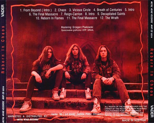 Vader - Reborn In Chaos (1996 Metal Mind Records, Poland/Austria)